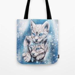 Blue Winter Lynx - Sheena Pike Art & Illustration Tote Bag