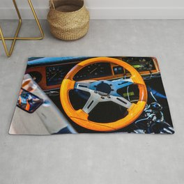 Steering Wheel Of A Sports Car Color Rug