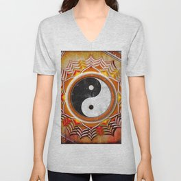 Yin Yang - Healing Of The Orange Chakra Unisex V-Neck