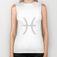 pisces Biker Tanks featuring Pisces by David Zydd