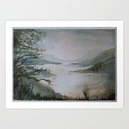 The Inlet - watercolor landscape Art Print
