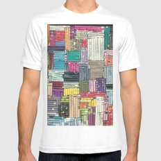 Collage MEDIUM White Mens Fitted Tee