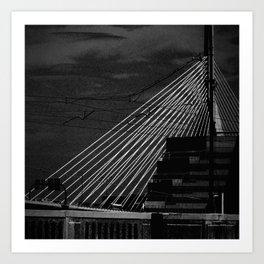 Bunker Hill Bridge Art Print
