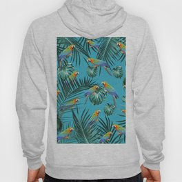 Parrots in the Tropical Jungle #2 #tropical #decor #art #society6 Hoody