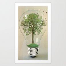 green ideas 02 Art Print