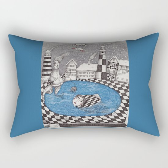 The Boy who wanted to be a Fish, or True Stories from Winter Lake Rectangular Pillow