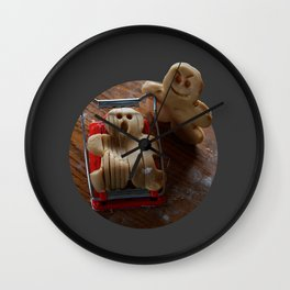 Attack of the Gingerbread man II Wall Clock