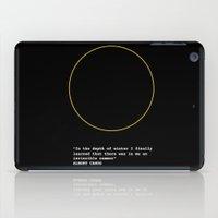 camus iPad Cases featuring Albert Camus by Polish Miss