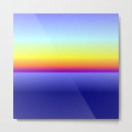 sunset sunrise blu sea lasoffittadiste Metal Print