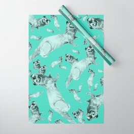 Mink in Bleu (pattern) Wrapping Paper