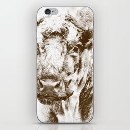 Ardnamurchan Coo - Brown iPhone Skin