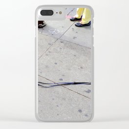 Caught On Tape Clear iPhone Case