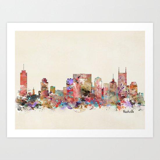 music city tennessee Art Print