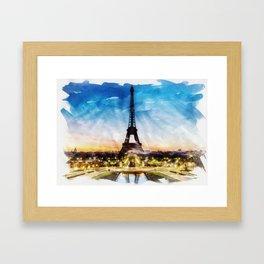 PARIS, France - Beautiful Earth / Watercolor art Framed Art Print
