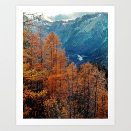 Autumn in Slovenia Art Print