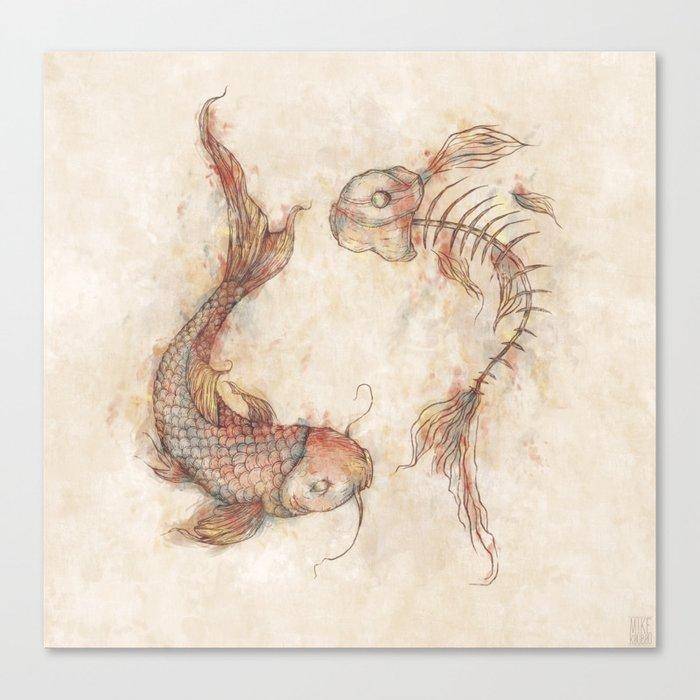 Yin Yang Fish Canvas Print