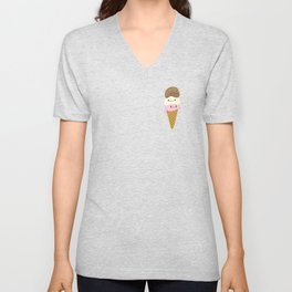Cute Ice Creams Unisex V-Neck