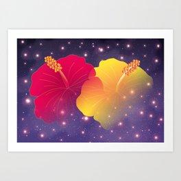 Hibiscus in Universe_YR Art Print