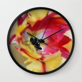 A tulip like a painter's palette Wall Clock