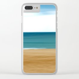 Beating the Winter Blues Clear iPhone Case