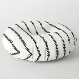 Minimal Triangles - Black & White Floor Pillow