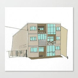 The Building across from the Blue Note. Galway city. Canvas Print