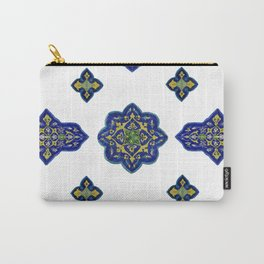 Samarkand blue and yellow ornament Carry-All Pouch