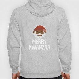 Black Santa Merry Kwanzaa African Holiday Tradition Hoody