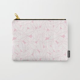 Leaves in Rose Carry-All Pouch