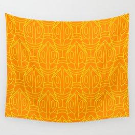 Orange and yellow lozenge pattern Wall Tapestry