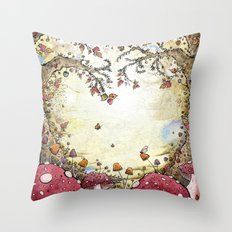 A Watchful Forest Throw Pillow