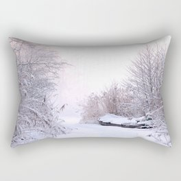 Snowy Landscape Rectangular Pillow