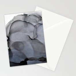 Black Smoke Alcohol Ink Composition Stationery Cards