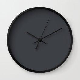 Illustrated Haystack Rock ~ Dark Grey Wall Clock