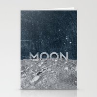 the moon Stationery Cards featuring Moon by Chris Redford