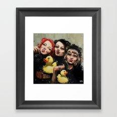 DFS - Duck face syndrom Framed Art Print