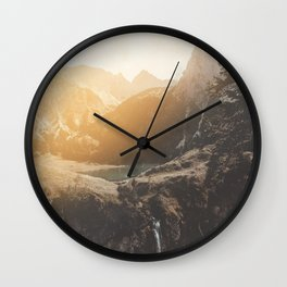 Is this real landscape photography Wall Clock