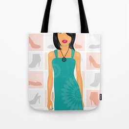 Girl love shoes Tote Bag