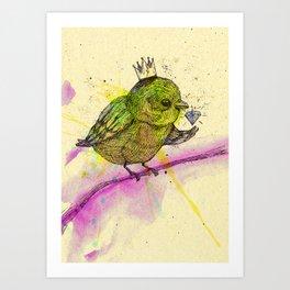 King Bird Art Print