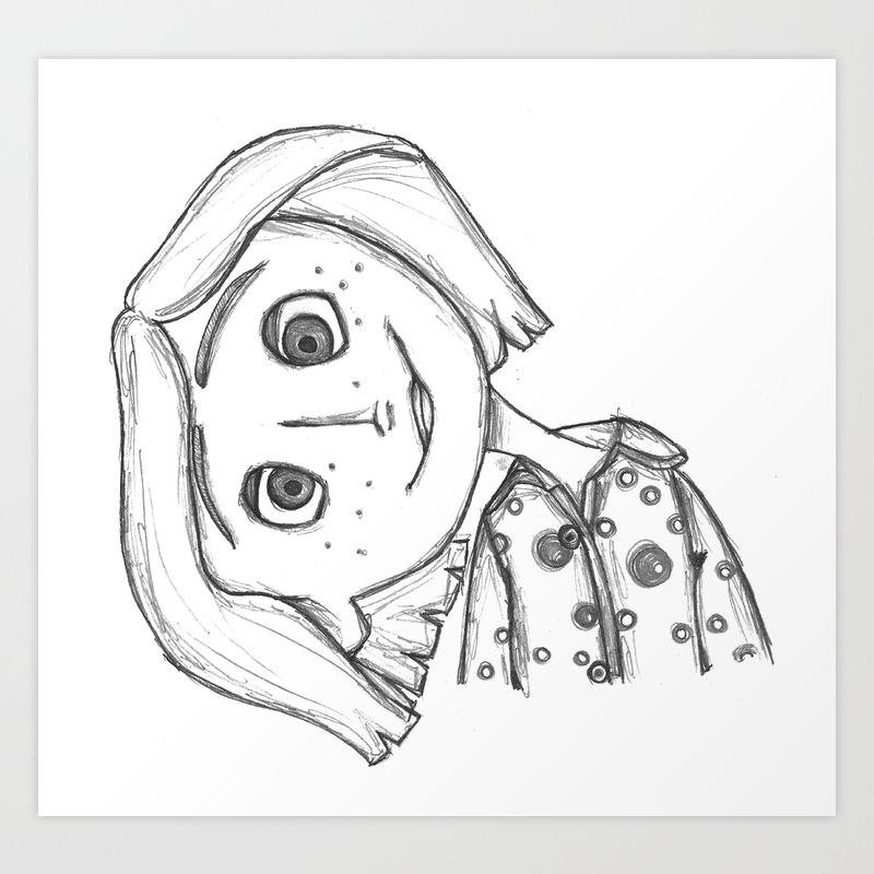 Coraline Jones Art Print By Pistachioonlinestore Society6