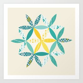 Patchwork Sunshine Art Print