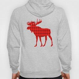 Plaid Moose: Red Hoody
