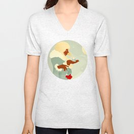 Mountain Poppies Unisex V-Neck