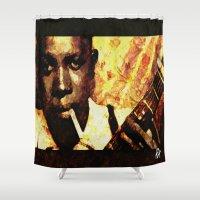 robert farkas Shower Curtains featuring Robert by Darla Designs