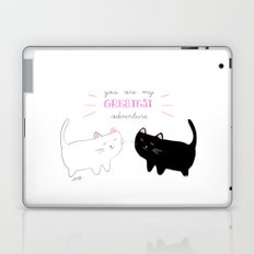 white cat - black cat moonrise kingdom quote Laptop & iPad Skin