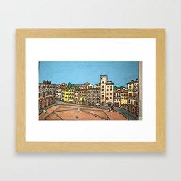 arezzo piazza grande Framed Art Print