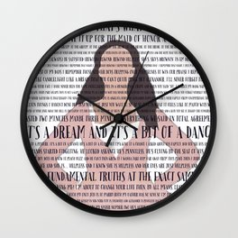 Saisfied Hamilton Lyrics Wall Clock