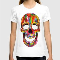 john T-shirts featuring Chromatic Skull by John Filipe