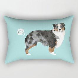 Australian Shepherd blue merle funny dog fart Rectangular Pillow