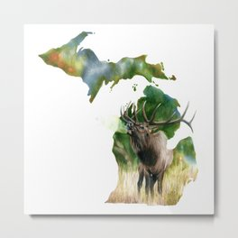 Michigan Elk Metal Print